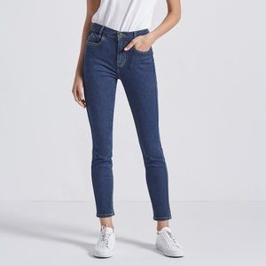 Current/Elliot High Rise Easy Skinny Ankle Jeans